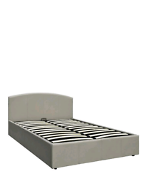 Marston Faux Leather Lift Up King Size Storage Bed Grey