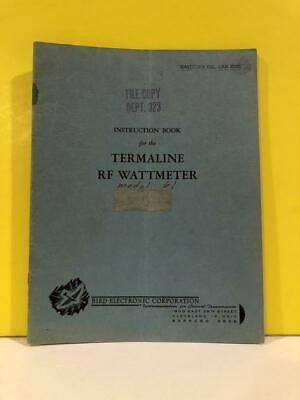 Bird Termaline Rf Wattmeter Mod 61 Instruction Book