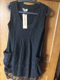 Black tunic style dress