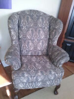 GORGEOUS PAISLEY WING CHAIR
