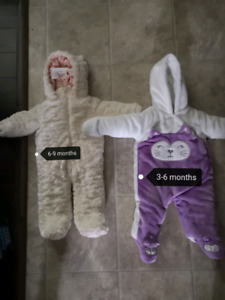 Winter suits 3-6 and 6-9 month