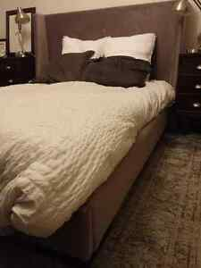 Urban Barn Queen Size Upholstered Bed Frame