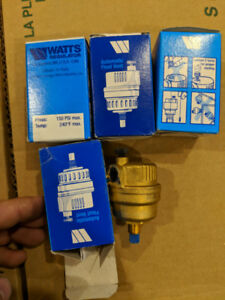 WATTS Auto Float Vent for Hot Water Heating - BRAND NEW