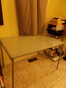 Modern nice glass kitchen side or main table