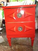 UNIQUE RED SIDE TABLE
