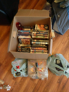 Box of vhs tapes