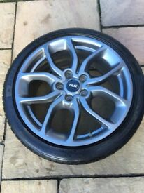 "Set of Renualtsport 18"" alloys with Dunlop tyres"