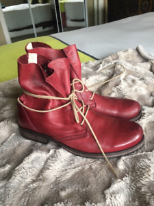 Miz Mooz Red Leather ankle boots