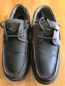 Men's ATELIER NOIR BROWN LEATHER BOAT SHOES- SIZE 9