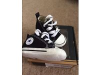 Black baby converse (size 2)