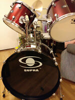 Supra complete drum set, barely used
