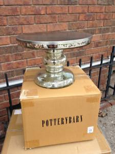 Mercury Glass Cake Stand Pottery Barn New