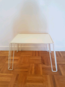 IKEA SIDE TABLE WITH GLASS.