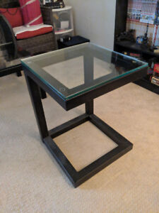 Tempered glass coffee and end tables
