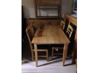 Dining tables and chairs cheap new sale