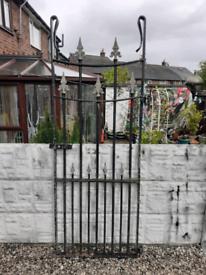 Wrought iron gate / garden gate / metal gate / entry gate / tall gate