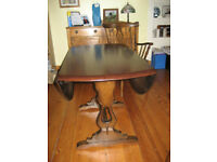 """Ercol """"Old Colonial"""" drop leaf dining table and 4 chairs"""