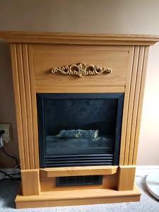 Wood mantel type heater