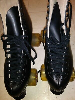 Vtg? Riedell Black Roller Skates-Sure Grip Bind/Kryptonics Rt70 Wheels-Sz11W/9M
