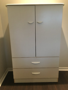 White Dresser and Night Table