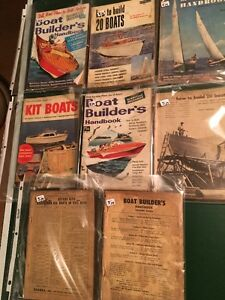 8 VINTAGE BOAT MAGAZINES_PLANS -HOW TO-