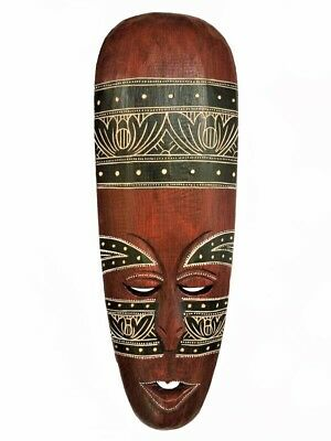 """Used,  Gorgeous 19"""" x 6.5"""" Unique Hand Chiseled Wood African Style Wall Decor Mask! for sale  Shipping to Nigeria"""