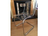 Clear dining chairs