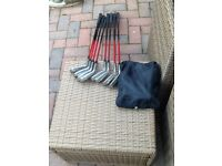 Set of HOSON BLAZER GOLF CLUBS BAG AND TROLLY