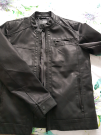Faux leather jacket, size L