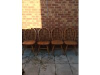 Windsor farmhouse dining chairs