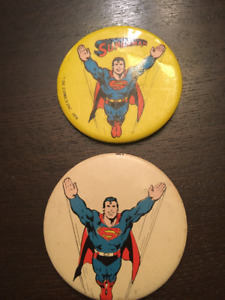 Superman 1970's Collectable Pin Backs (Buttons)