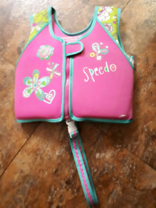 Girls Speedo Brand 4-6 year old life jacket-$10