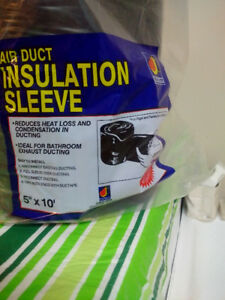 """5"""" x 10' Poly Black Duct Insulation Sleeve"""