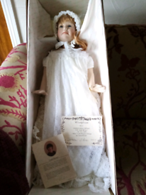 Reproduction victorian doll. Immaculate condition,