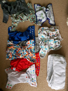 A variety of cloth diapers, $50 OBO