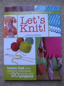 Knitting books for patterns, clothing, toys + more. Never used!