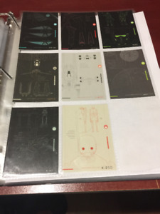 2016 Topps Star Wars Rogue One Series1 Blue Print Set Of 8 Cards