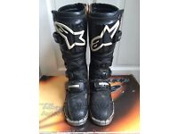 ALPINESTARS TECH 6 BLACK MOTOCROSS MOTORCYCLE BOOTS SIZE 6 CAN POST IF REQUIRED