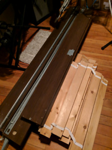 Single Wood bed frame with slats and hardware