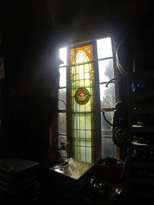 Beautiful old church stained glass window