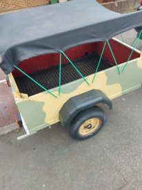 Strong metal camping trailer