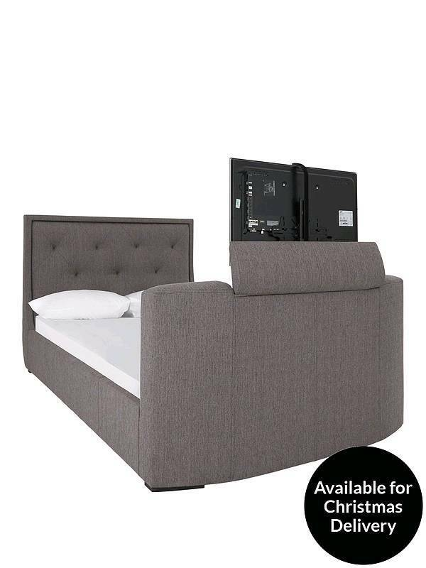 Brand New In Box Estates Fabric Lift Up Storage Tv Bed Frame