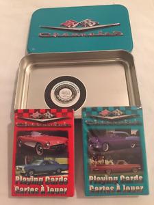 Jeux de cartes Chevrolet dans boîte métal