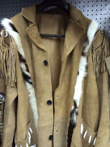 Men's light tanned fringed jacket Edmonton Edmonton Area image 1
