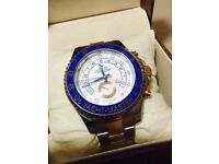 Rolex Yachtmaster 2nd edition 18k rose gold and stainless steel blue bezel