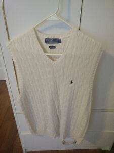 Polo vest white sweater