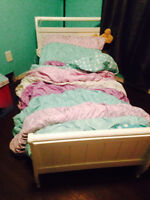 Toddler sleigh bed frame and mattress
