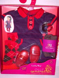 """NEW UNOPENED Our Generation OG """"Lucky Bug"""" Dress Set!"""