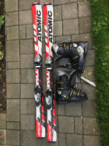 Children's Downhill skis and boots