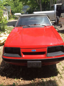 1986 Ford Mustang LX Convertible 6 cylinder.